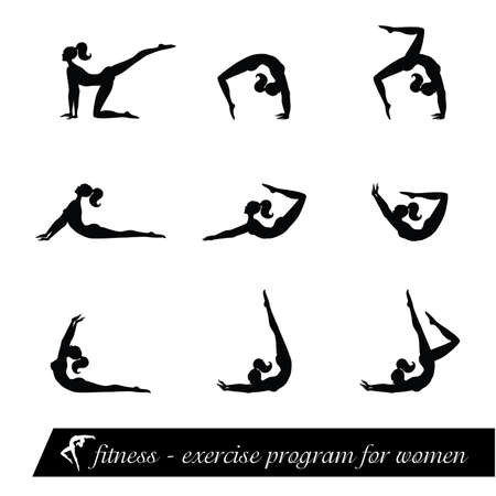 fitness - exercise program for women Stock Vector - 8977573