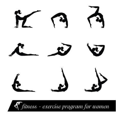 fitness - exercise program for women Stock Vector - 8977573