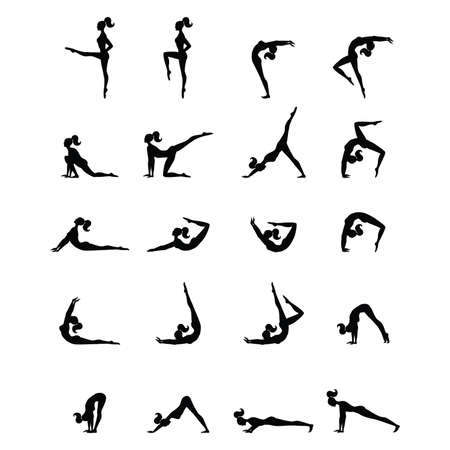physical activity: Fitness program for women - a complex of physical exercises Illustration