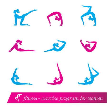 fitness - exercise program for women Stock Vector - 8977582