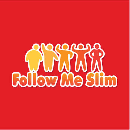 template label - follow me slim Stock Vector - 8977577