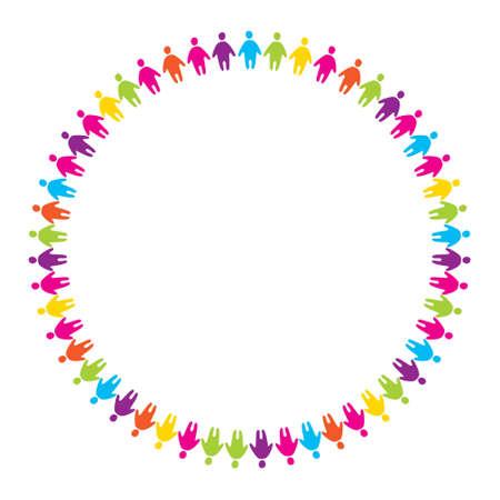 humanidad: firmar - la amistad del pueblo unificado por