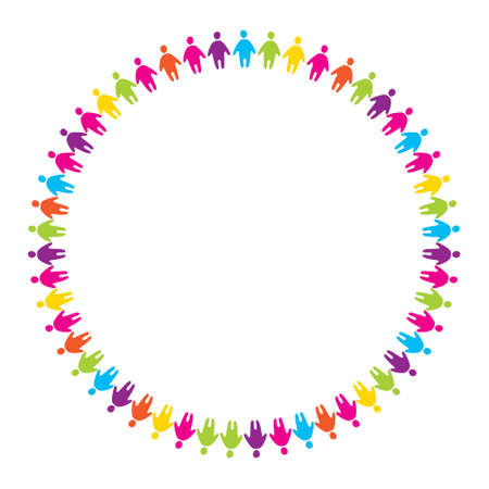 friendship circle: sign - the friendship of people unified by