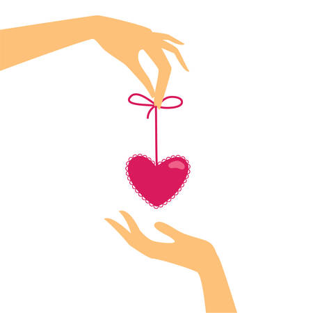 loving hands: template for the cards with Valentines Day - Heart Gifts