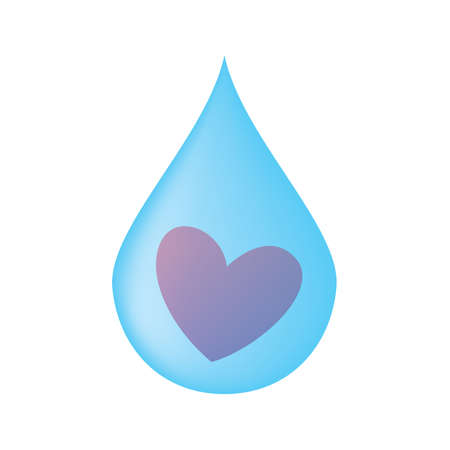 clean heart: symbol of love - the heart of the drop Illustration