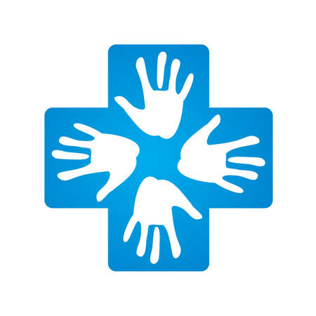 mutual assistance: sign - a helping hand Illustration
