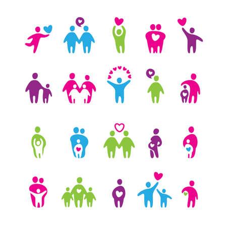 ensemble d'icônes - amour et la famille