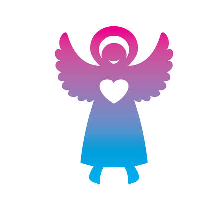 symbol - an angel of love Vector
