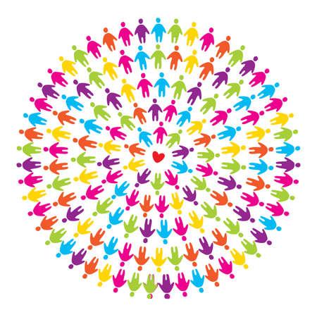 teken van liefde, vrede en vriendschap - liefde zal de wereld redden