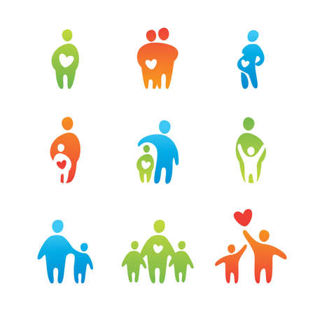 set of icons - parental love Stock Vector - 8977467