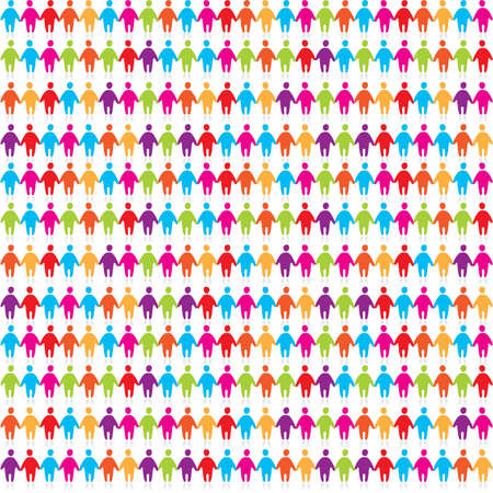 background - color pattern of the people