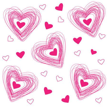 Muster Der Herzen Für Die Glückwünsche Zum Valentinstag Lizenzfrei Nutzbare  Vektorgrafiken, Clip Arts, Illustrationen. Image 8977607.