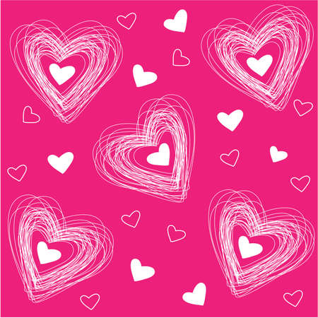 pattern of hearts for the congratulations on Valentines Day Vector