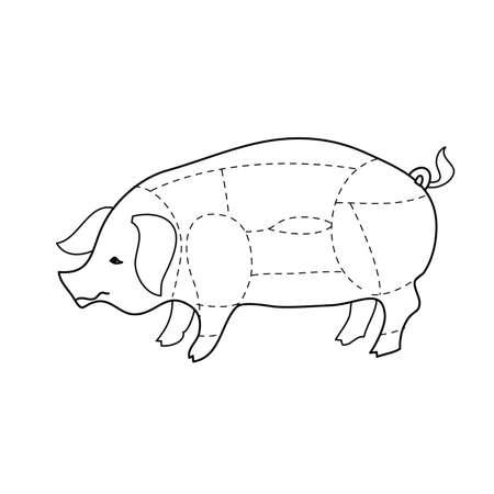 scheme pork carcasses Vector