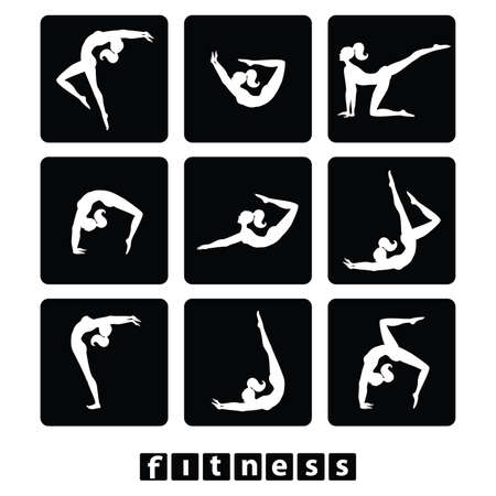 set of icons - fitness Vector