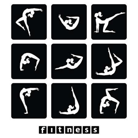 conjunto de iconos - Gimnasio