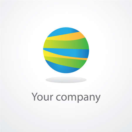 template sign global company... Vector