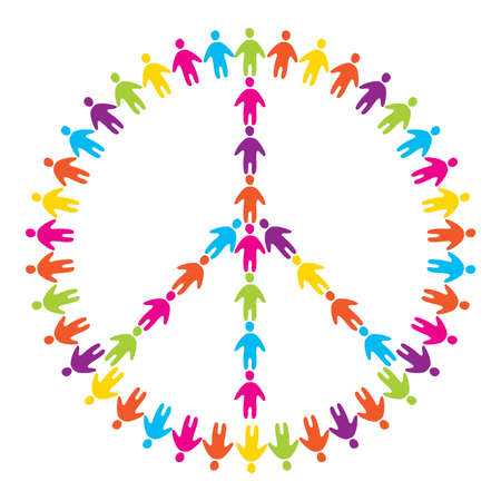 peace symbol: sign of peace - peace for all people Illustration