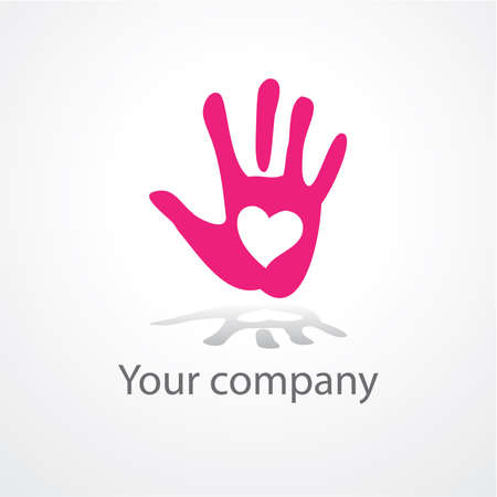 community help: pattern of the sign - in the heart of palm