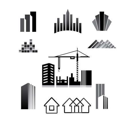 pattern of the sign - construction, property, real estate, building Stock Vector - 8977488