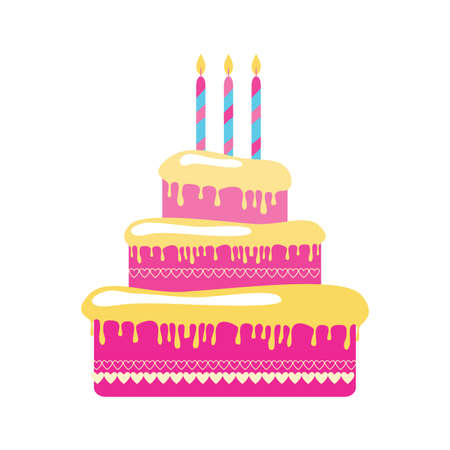 torte: blank - a birthday cake Illustration