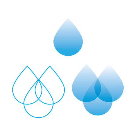 options for the sign of water - a drop Stock Vector - 8977611