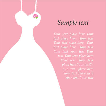 evening: template for wedding invitations