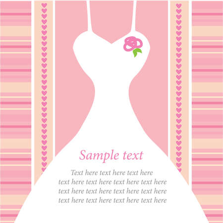 pink dress: template for wedding invitations