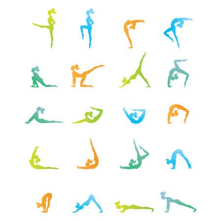 complex exercise - morning exercise Stock Vector - 9231477