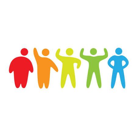 gordo y flaco: etapas de la p�rdida de peso