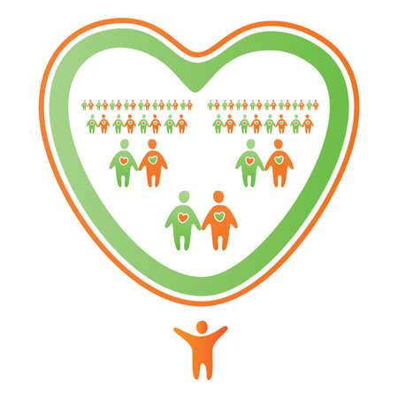 Abstract icon-mark - a family tree Vector