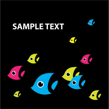 colourful fishes: The original background - a stylized fish. Can be used as a template - Insert your text instead of an example.