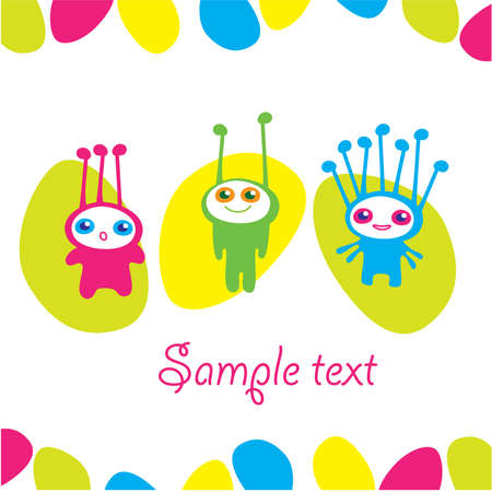 Original greeting card. Template. Insert your text. Stock Vector - 9464032