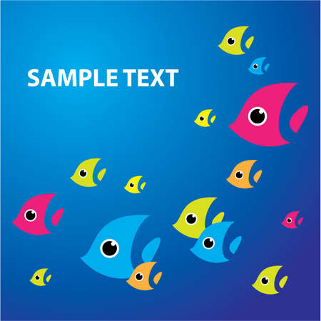 Background - the underwater world. �emplate - Insert your text. Vector