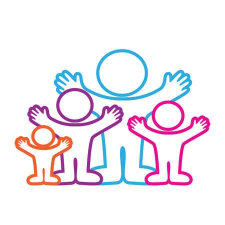 family clipart: modello carattere-icone - famiglie
