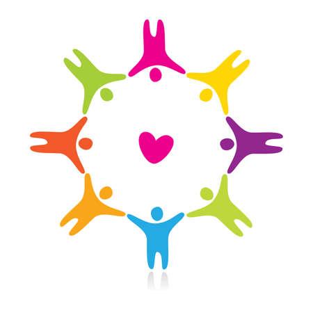 amistad: signo de amor y amistad Vectores