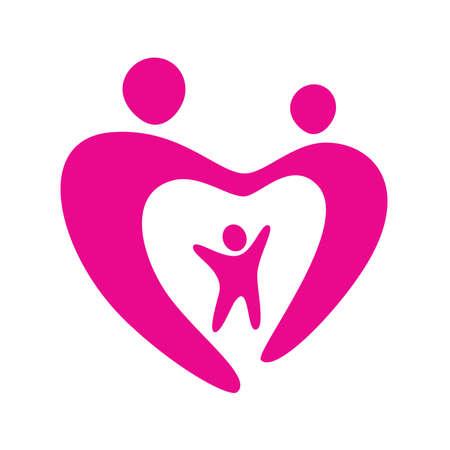 eltern und kind: Zeichen-Liebe Familie