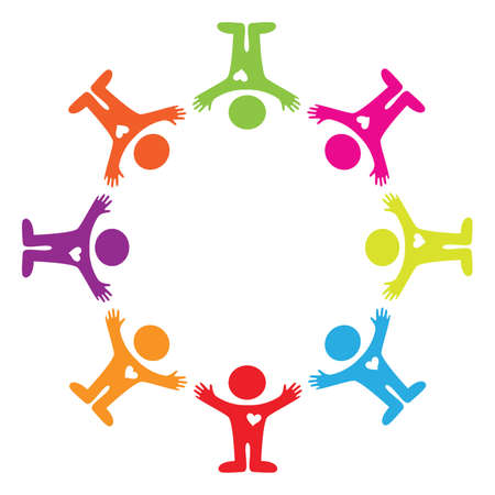 friendship circle: sign - unity people Illustration