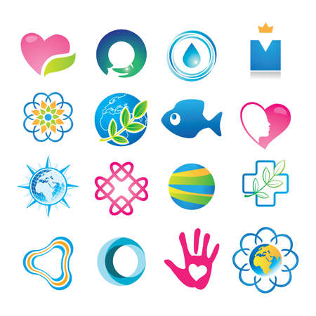 Abstract symbols for your design. Vector