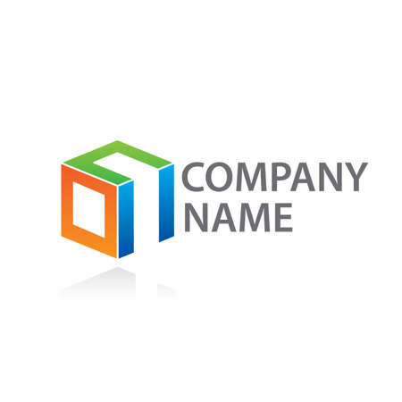 cube: Template to mark the company. Put your company name rather than text.