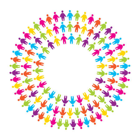 Symbol-Zeichen - die Einheit, Freundschaft und Allianz