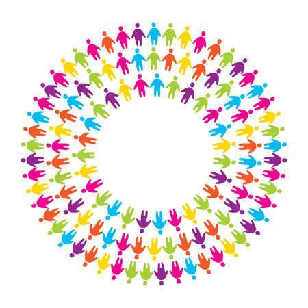 erde h�nde: Symbol-Zeichen - die Einheit, Freundschaft und Allianz Illustration