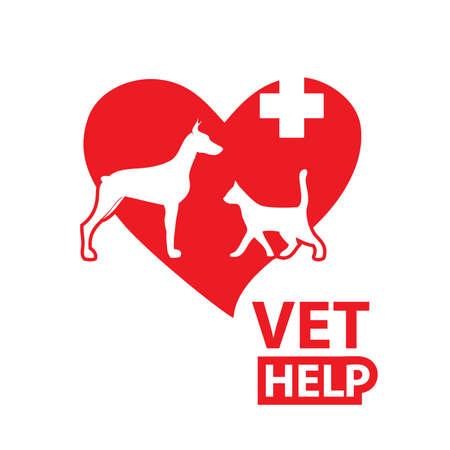 veterinarian symbol: Segno - servizi di soccorso veterinario