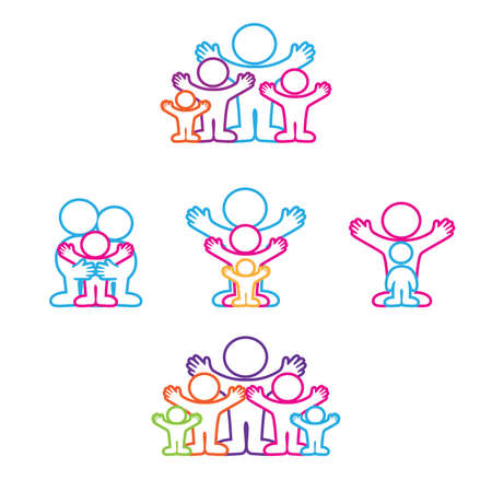 Collection of icons - the family Stock Vector - 9717358