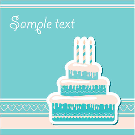 Template-frame for the birthday greetings. Insert your text. Vector