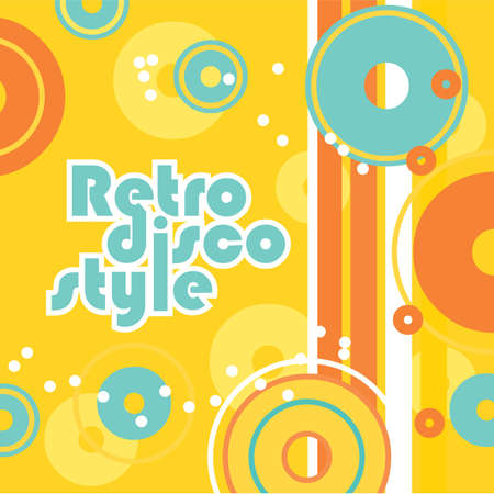 Retro background - a style of disco. Vector illustration for your design. Vector
