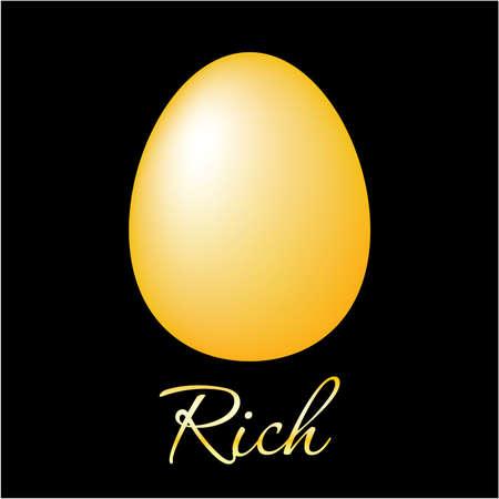 affluence: Huevos de oro - un s�mbolo de riqueza, lujo, riqueza y estabilidad.