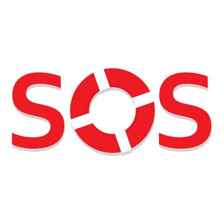 Sign  symbol sos - the international distress signal. Vector