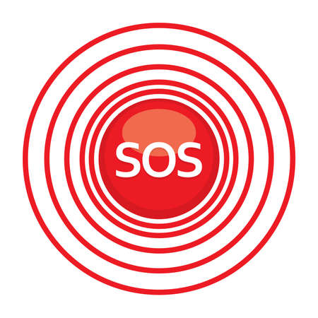 rescue signs: Sign  symbol sos - the international distress signal.