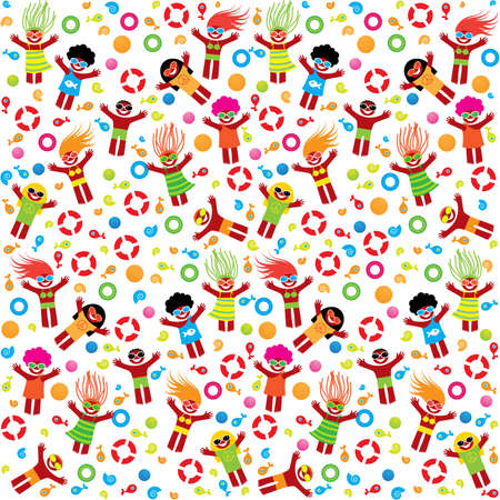 Pattern - summer vacation on the beach. Seamless background. Stock Vector - 9717379
